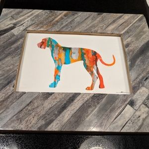 Great Dane wall art picture frame